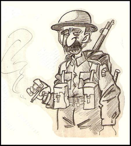 WW2 Soldier cartoon